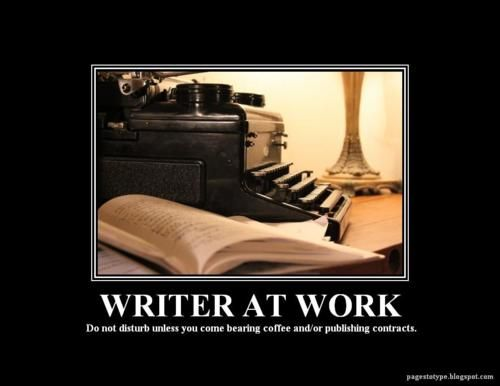 Image result for writer at work sign