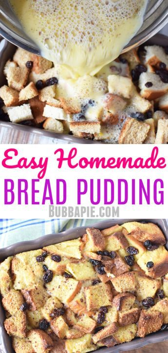 This easy homemade bread pudding recipe is the traditional ...