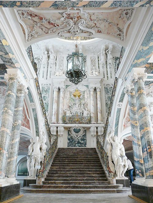 Augustusburg's Ceremonial Staircase. Buildings like these make me want to collapse in on myself. So very good.