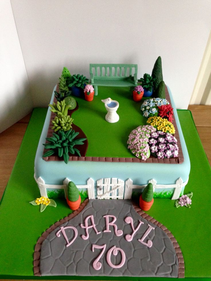 70th Garden Birthday Cake