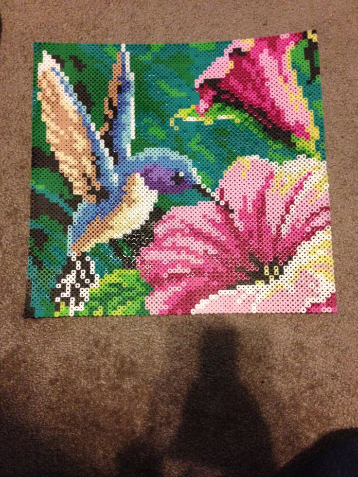 Hummingbird Perler Bead by KcranceArt on Etsy