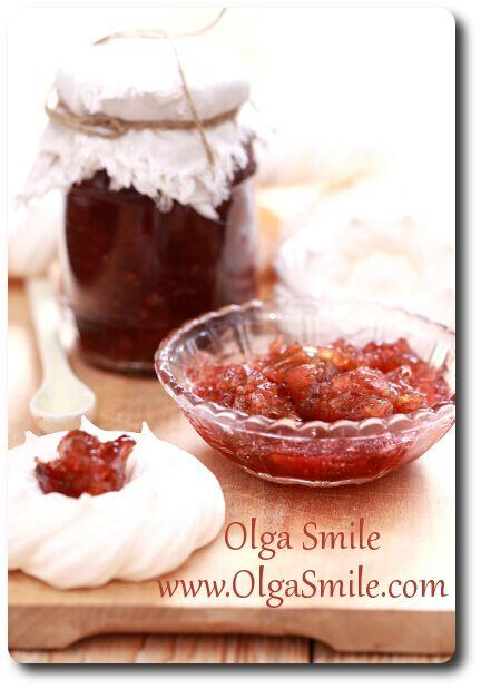 Dżem rabarbarowy z imbirem - przepis | Kulinarne przepisy Olgi Smile