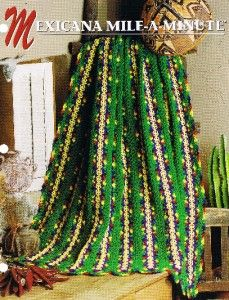 Mile a Minute Annies Attic Crochet Afghan Pattern Instructions Mile ...
