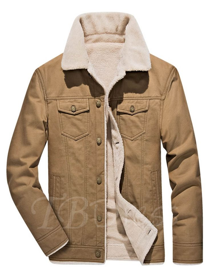 Tbdress.com offers high quality Lapel Thicken Warm Berber Men's Winter Jacket Men's Jackets unit price of $ 48.99.