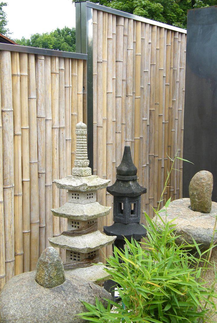 Sichtschutz aus Bambus für den Garten