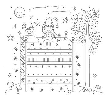 Stitch the Princess and the Pea! An embroidery pattern perfect for all fairy tale lovers!    This pattern is delivered via email in pdf format.