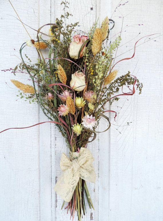 69 best dried bouquet images on Pinterest | Bridal bouquets, Dried ...