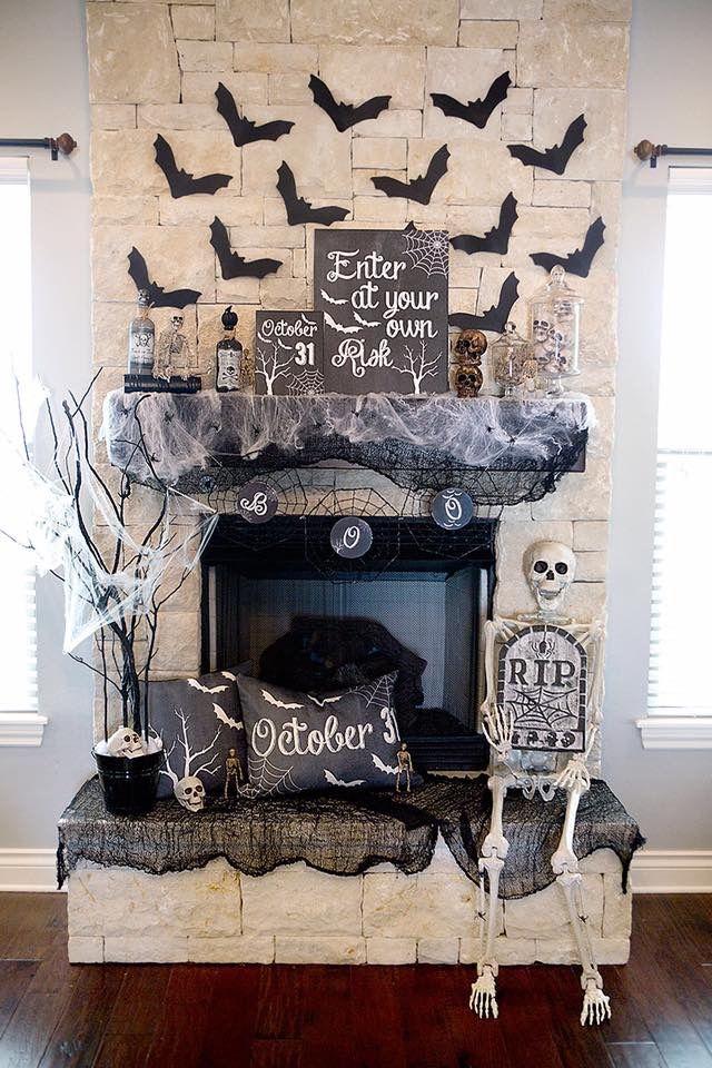 Very nice Halloween fireplace idea