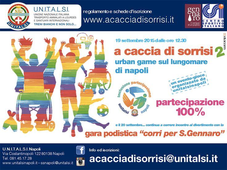 #Napoli, il 19/9 #URBANGAMES seconda ed. per l'inclusione della diversità #acacciadisorrisi 2