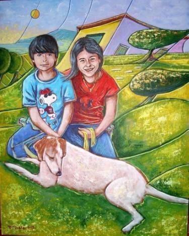 """Saatchi Art Artist Masia Piero; Painting, """"three friends (tre amici) 40 cm x 50 cm_quotazione 3000 euro"""" #art"""