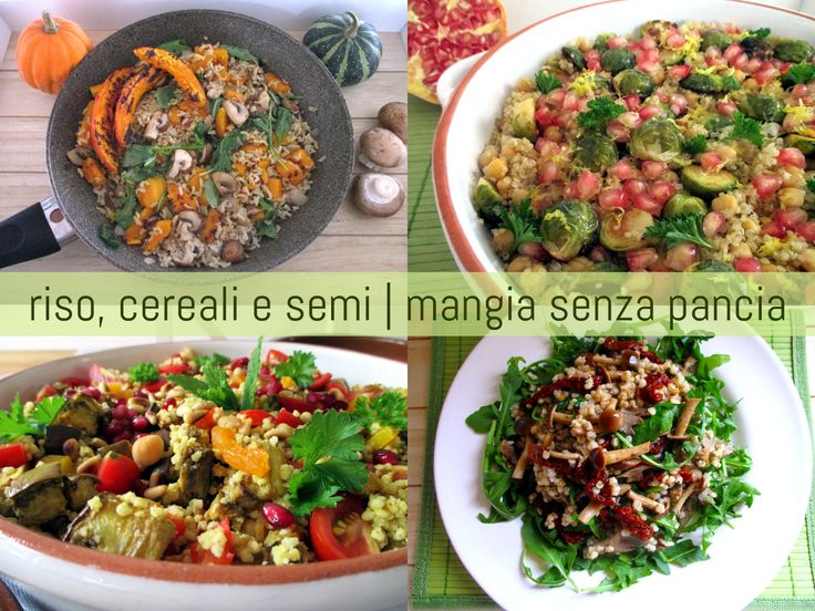 Una raccolta di ricette leggere con riso e altri cereali e semi quali quinoa, miglio, farro. Per poter sempre variare a tavola e mantenersi leggeri!