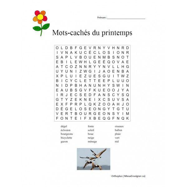 Mots Cachs Du Printemps Chansons Et Jeux Pour La Classe
