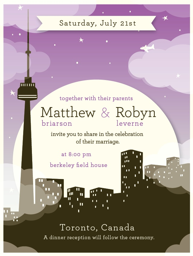 51 best toronto design inspiration images on pinterest map art swell grand starry toronto skyline wedding invitation stopboris Images