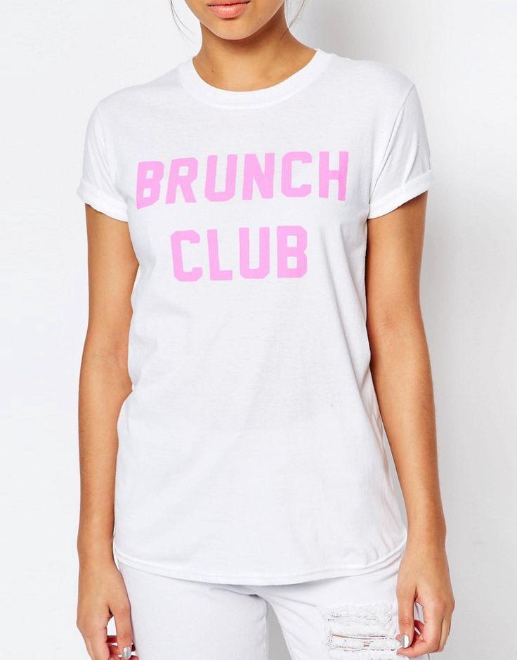 Image 3 - Adolescent Clothing - Brunch Club - T-shirt boyfriend à imprimé