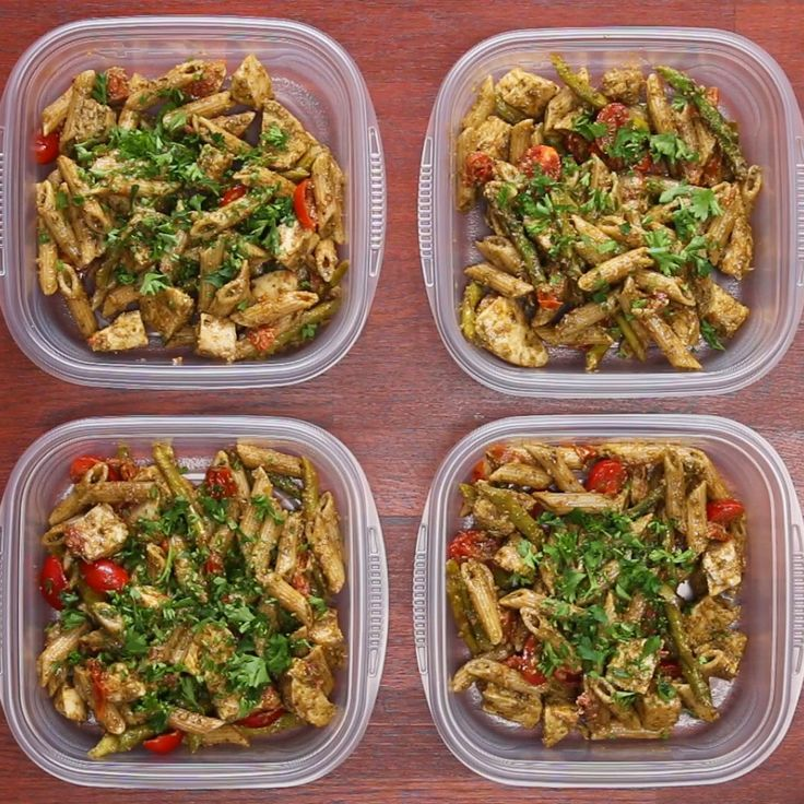 Meal Prep Pesto Chicken Pasta (Under $20)