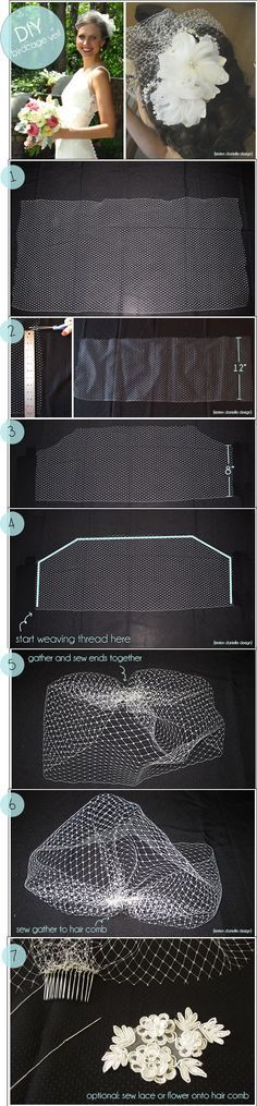 DIY birdcage veil with easy to follow instructions