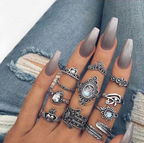 Imagem de nails, rings, and beauty