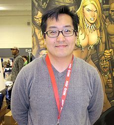 Frank Cho - comic strip and comic book writer and illustrator, known for his series Liberty Meadows, as well as for books such as Shanna the She-Devil, Mighty Avengers and Hulk for Marvel Comics, and Jungle Girl for Dynamite Entertainment. The artist is noted for his figure drawing, precise lines, and depiction of well-endowed women. Cho was born near Seoul, Korea in 1971, but moved to the US at the age of 6 & was raised in Beltsville, Maryland.