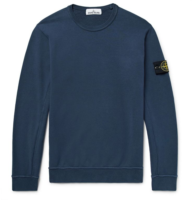<a href='http://www.mrporter.com/mens/Designers/Stone_Island'>Stone Island</a>'s sweatshirt is a reliable weekend staple. It's made from loopback cotton-jersey and finished with embroidered eyelets for breathability. Wear it with jeans or tapered sweatpants.