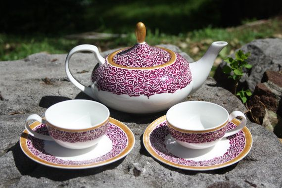 Turkish Delight Teapot made by request by ChimocoDesign on Etsy