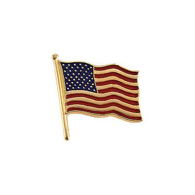 Diamonds and Gemstones 164337: American Flag Pin Lapel 10K Yellow Gold Diamond And Enamel Patriotic -> BUY IT NOW ONLY: $95.0 on eBay!