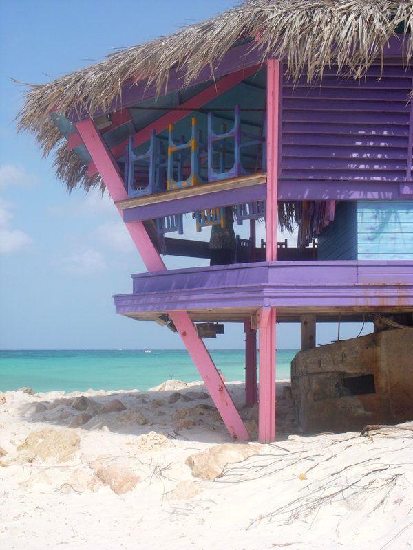 The Bunker Bar at the Tamarijn Aruba.  My favorite resort beach bar!