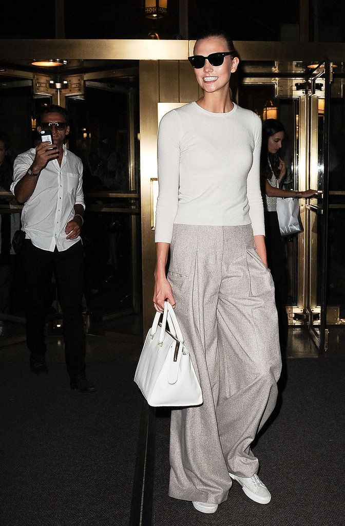 Karlie wearing Superga sneakers.                  Image Source: Getty / Daniel Zuchnik
