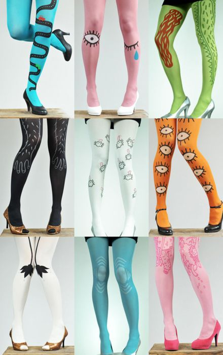 If anyone was still wondering, this is the site, though only the two pink ones and the black is left from this collection.  There's lots of other cool stockings/ect. not featured here, too, though