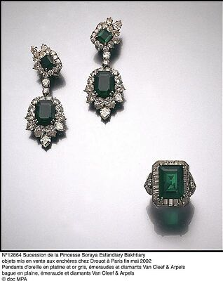 Princess Soraya of iran, second wife of the shah. Diamonds and emerald suite, gorgeous!