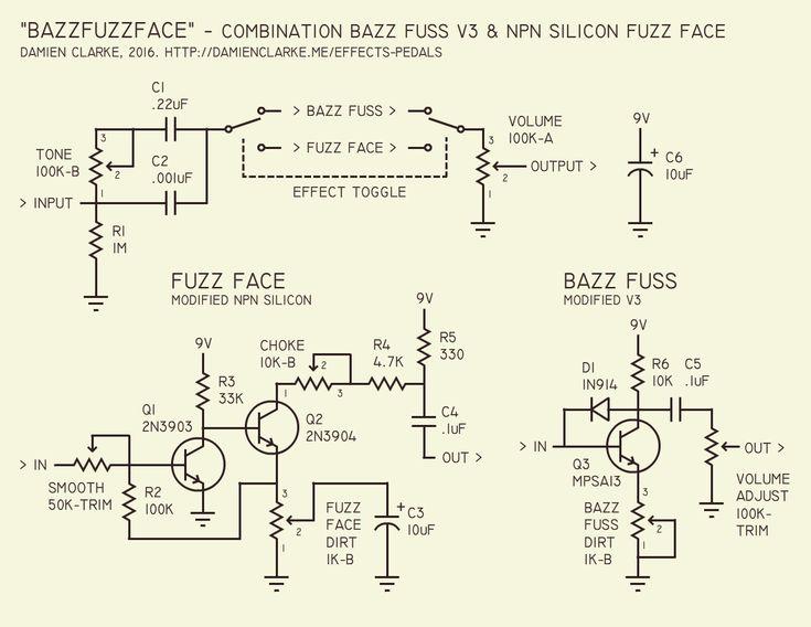 bazz fuzz face schematic fuzz pinterest  ug munity jimi hendrix fuzz face wiring diagram