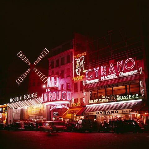 100 years of neon: The Moulin Rouge in Pigalle during the 1960s