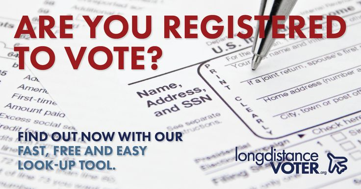 Are you registered to vote? Check now with our free 50-state voter registration lookup tool.
