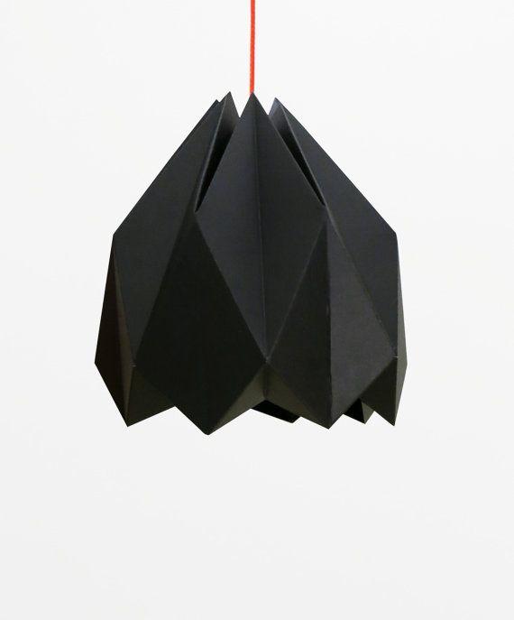 Origami III - Cardboard lamp shade black