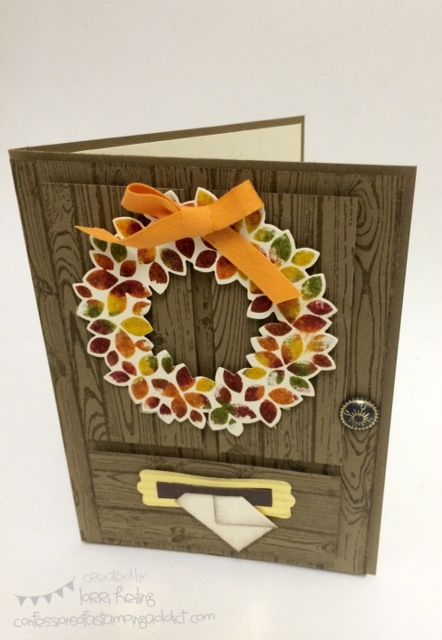 weSTAMP Founder's Circle Photos :: Confessions of a Stamping Addict Wreath Card Lorri Heiling