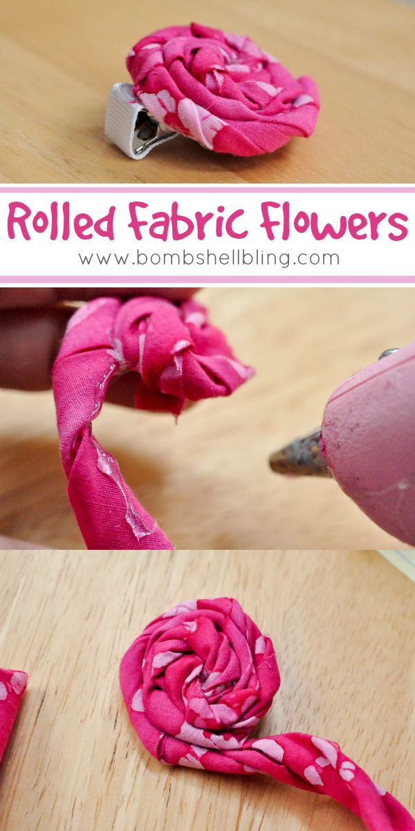 Rolled Fabric Flowers from Bombshell Bling