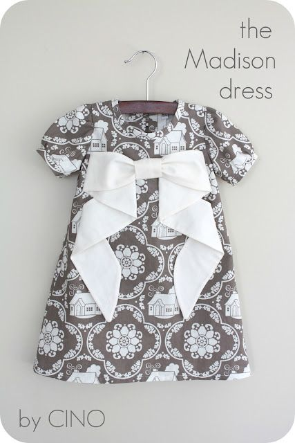 DIY tutorial on how to make the Madison Dress. SEW cute!