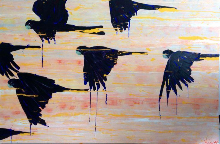 'Soul's Cry' acrylic on canvas Artist: Wanda Stafford