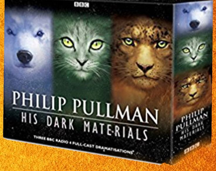 Phillip Pullman's  Dark  Materials trilogy :  The Golden Compass, The  Subtle  Knife    The Amber Spyglass . The term  dark materials derives from Milton's   Paradise Lost .