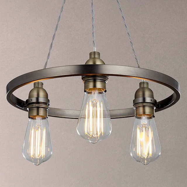 BuyJohn Lewis Bistro Hoop Pendant Ceiling Light, 3 Light, Pewter Online at johnlewis.com