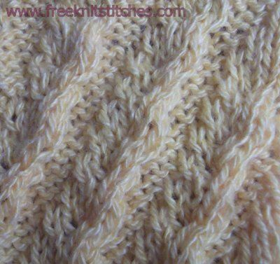 Knitting Stitches Waves : 29 best images about Wave Knit Stitch Patterns on Pinterest Free pattern, K...