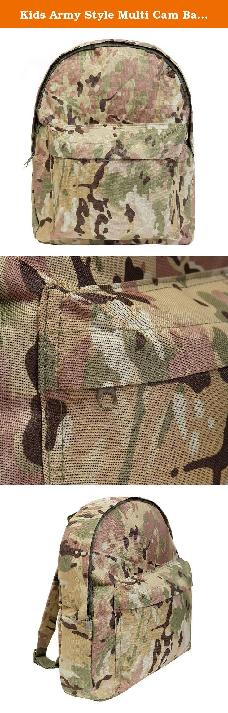 Kids Army Style Multi Cam Backpack 15ltr Camouflage Rucksack Bag. When you are heading out on a mission, you need a rucksack that you can rely on. With the Kids Army MTP Camo Rucksack you will be able to carry all of your favourite army play kit in comfort.