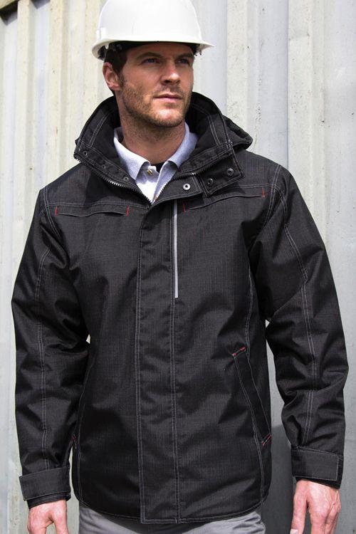 Jachetă robustă cu textură Denim Result: multifuncţională, căptuşită cu polar, din 100% Poliester #jachetepersonalizate #geciresult #gecipersonalizate #jachetedelucru