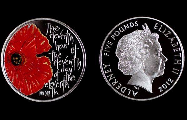 Remembrance Day commemorative coin.