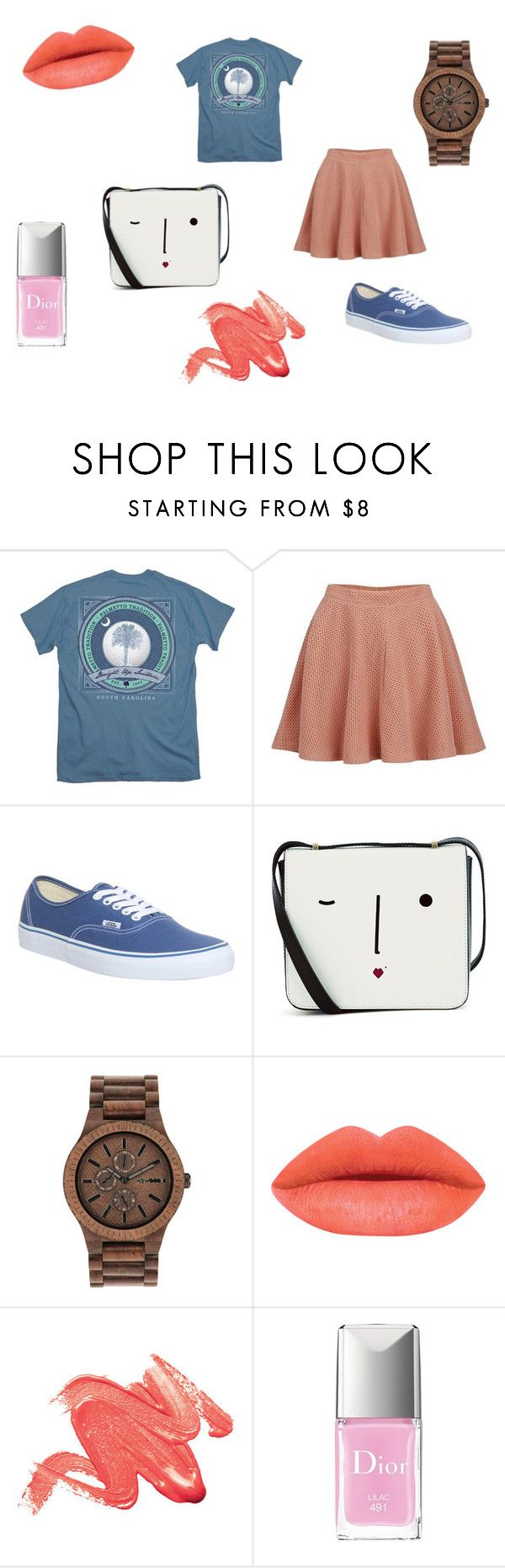 Untitled #20 by clarairawan on Polyvore featuring Paul & Joe Sister, Vans, Lulu Guinness, WeWood, Christian Dior, women's clothing, women's fashion, women, female and woman