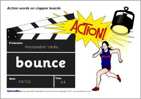 Action words on clapper boards (SB6513) - SparkleBox