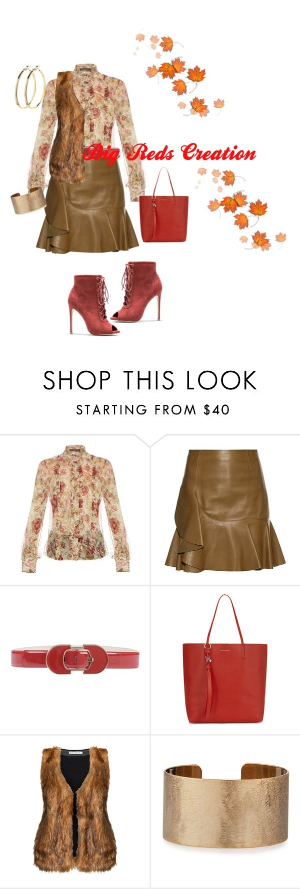 """""""It's Fall"""" by bigreds ❤ liked on Polyvore featuring Alexander McQueen, Morgan De Toi, Studio, Panacea and Pieces"""