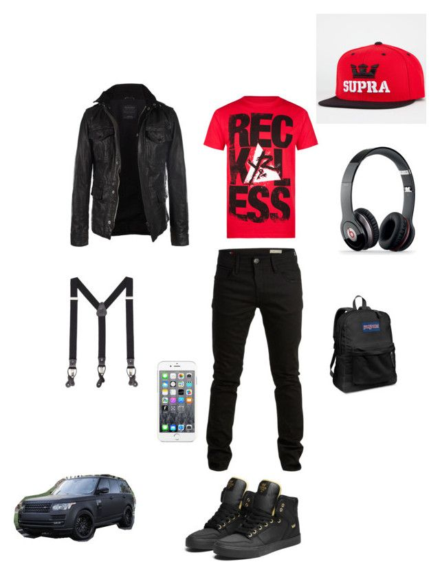 """Untitled #670"" by jamison24 on Polyvore featuring Supra, SELECTED, MANGO MAN, Young & Reckless, Beats by Dr. Dre, JanSport, Maison Kitsuné and AllSaints"