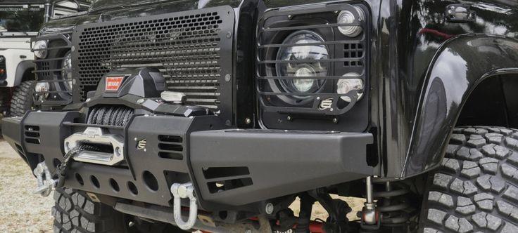Land Rover Defender 110 Td4 Sw Se customized. Equipe 4x4 Black Winch Cover Modular Bumper (Defender) - Roma ...