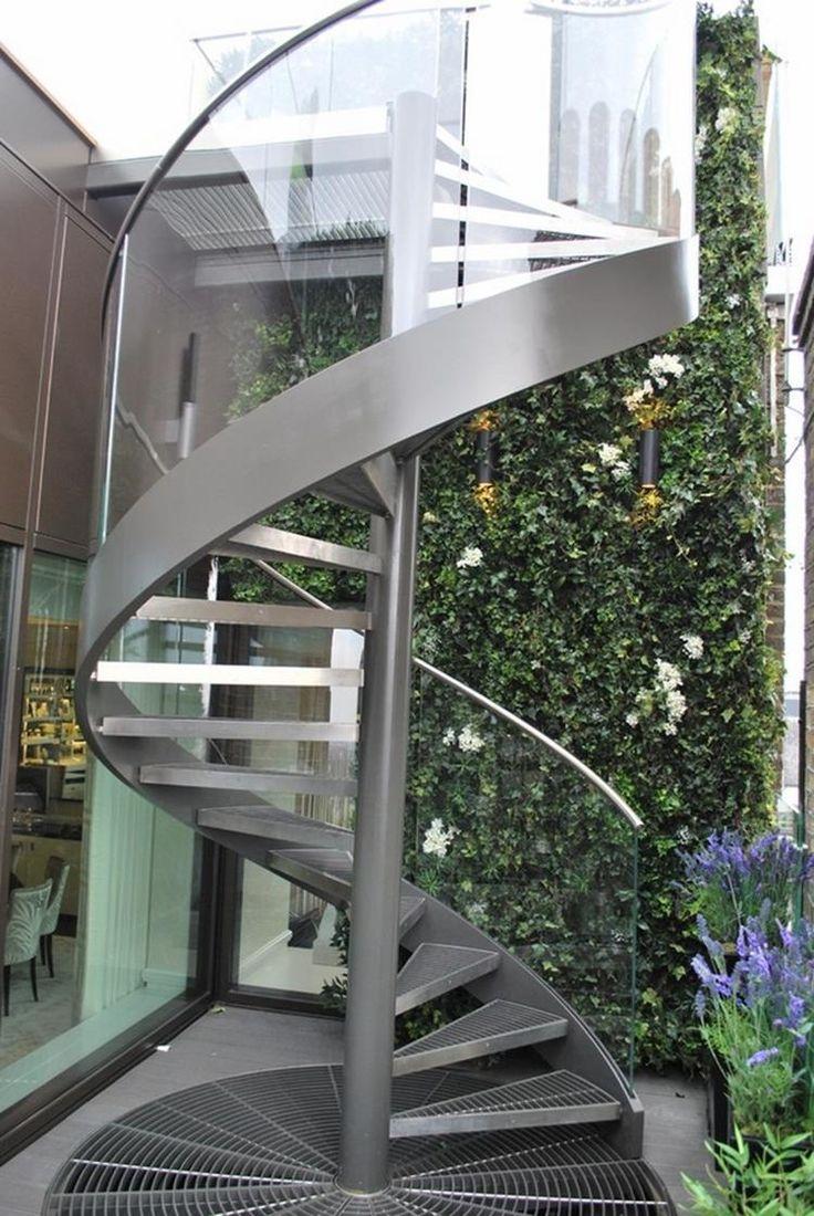 Outdoor Spiral Staircase Design Ideas 15   Staircase metal ...