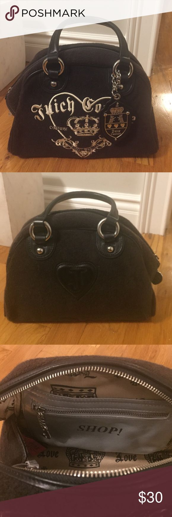Juicy Couture handbag Juicy Couture handbag in black. It has an inside zipper and 2 pockets with a small mirror. Juicy Couture Bags Satchels